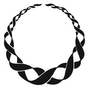 This a a ribbon circle.